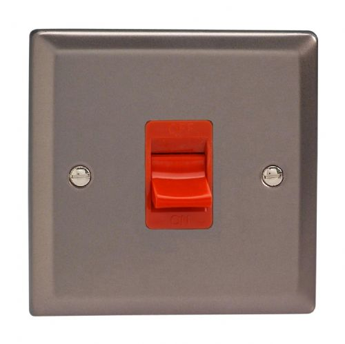 Varilight XR45S Classic Pewter 45A DP Cooker Switch Single Plate